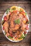 Served roasted turkey Stock Photos