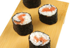 Served rolls on white Royalty Free Stock Photos