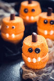 Halloween cup cakes. Served scary Halloween cup cake,selective focus Royalty Free Stock Images
