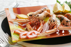 Served seafood Royalty Free Stock Photo