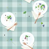 Served sprouts and seeds. Vector background Stock Photo