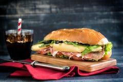Served submarine sandwich Stock Photos