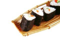 Served sushi on bamboo Stock Photo