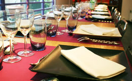 Served table Stock Images