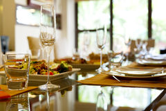 Served table. Royalty Free Stock Photo