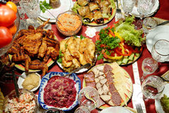 Served table. Stock Images