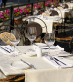 The served table Royalty Free Stock Photo