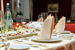 Served table Royalty Free Stock Images