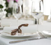Served table for holiday Royalty Free Stock Photography
