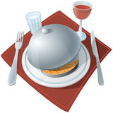 Served table (icon) Royalty Free Stock Photos