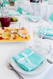 Served table layout Royalty Free Stock Photos