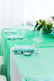Served table layout Stock Photography