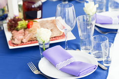 Served table layout Stock Images
