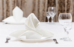 Served table in restaurant Royalty Free Stock Photos
