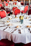Served table in restaurant Royalty Free Stock Images