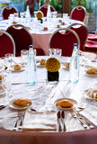 Served table in restaurant Royalty Free Stock Image