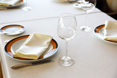 Served table Royalty Free Stock Image