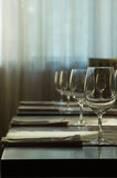 The served table at restaurant royalty free stock images