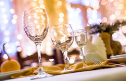 Served table in a restaurant Royalty Free Stock Photos