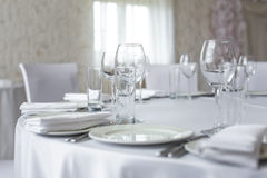 Served table in restaurant Royalty Free Stock Photography