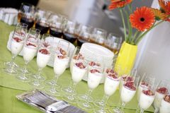 The served table with snack Stock Image