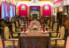 Served table waiting for guests Royalty Free Stock Photo