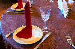 Served table waiting for guests Royalty Free Stock Photos