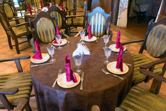 Served table waiting for guests Stock Images