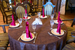 Served table waiting for guests Royalty Free Stock Images