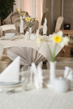 Served tables Stock Images