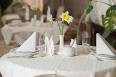Served tables Stock Photos