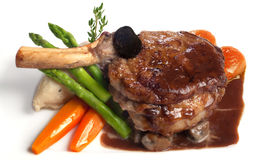 Served veal chop Stock Photography