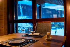 Servendo nel ristorante senza alimento Fotografia Stock Libera da Diritti