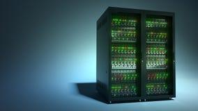 server Τρισδιάστατη απόδοση αποθήκευσης στοιχείων υπολογισμού σύννεφων Στοκ εικόνες με δικαίωμα ελεύθερης χρήσης
