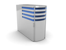 Server. 3d illustration of server computer, over white background Stock Photo