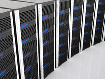 Server 3d. Fine image of classic black server 3d background Royalty Free Stock Photography