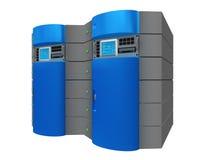 Server 3d azul ilustração stock