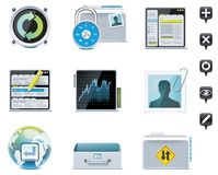 Server administration icons. Part 2. Set of the website or server administration icons Stock Images