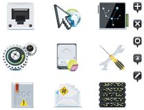 Server administration icons. Part 3 Royalty Free Stock Photo