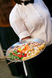 Server with appetizers Stock Photos