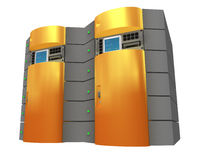 Server arancione 3d Fotografie Stock