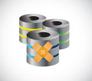 Server band aid fix solution concept illustration Royalty Free Stock Photo