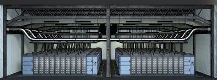 Server-Bauernhof der Wiedergabe-3D lizenzfreie abbildung