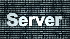 Server binaire achtergrond Stock Fotografie