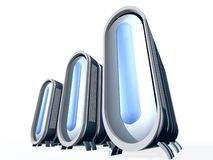 Server  With Blue Glass. Servers for web design and stocks Royalty Free Stock Images