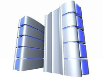Server  With Blue Glass. Servers for web design and stocks Royalty Free Stock Photo