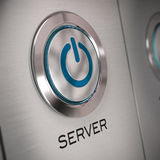 Server button close up Stock Photography