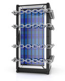 Server and chain Royalty Free Stock Photography