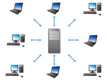 Server - Client communication Stock Images