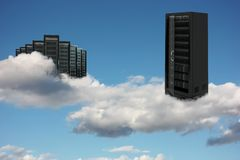 Server cloud. Computer generated server cloud conceptual image Stock Photo